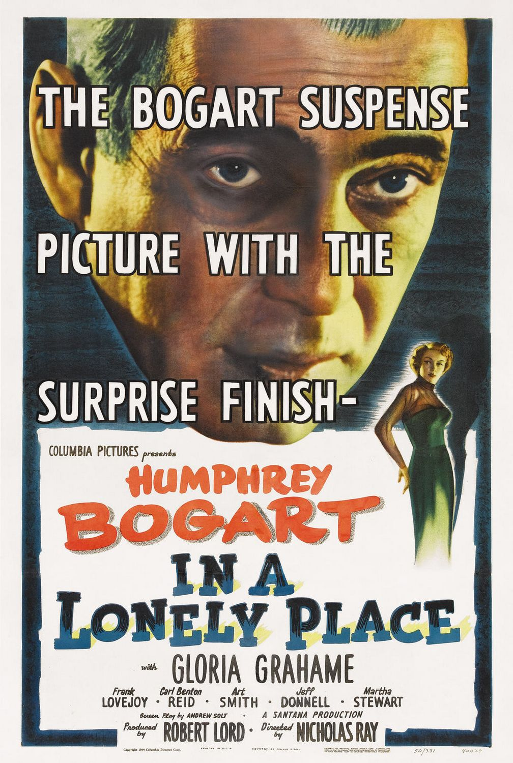 Film poster for In a Lonely Place (1950).