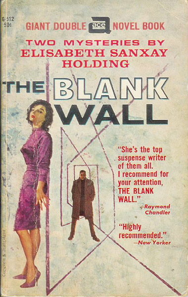 Ace cover for The Blank Wall.