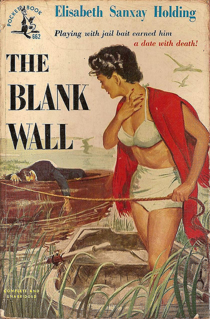 Pocket reprint cover for The Blank Wall.