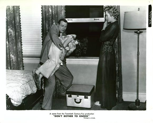 Film still from Don't Bother to Knock (1952).